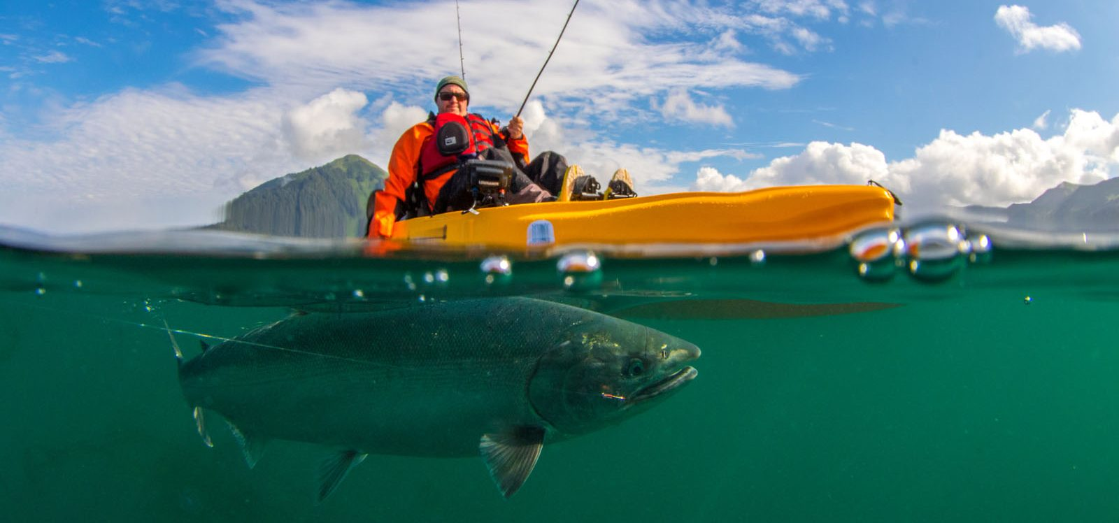 Kayak fishing expeditions gray light fishing seward alaska for Sea fishing kayak